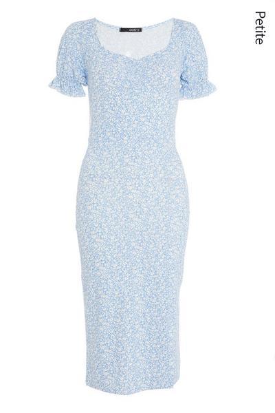 Petite Blue Floral Midi Dress